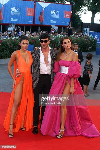 Dayane Mello Matteo Manzini and Giulia Salemi attend the premiere of 'The Young Pope' during the 73rd Venice Film Festival at on September 3 2016 in...
