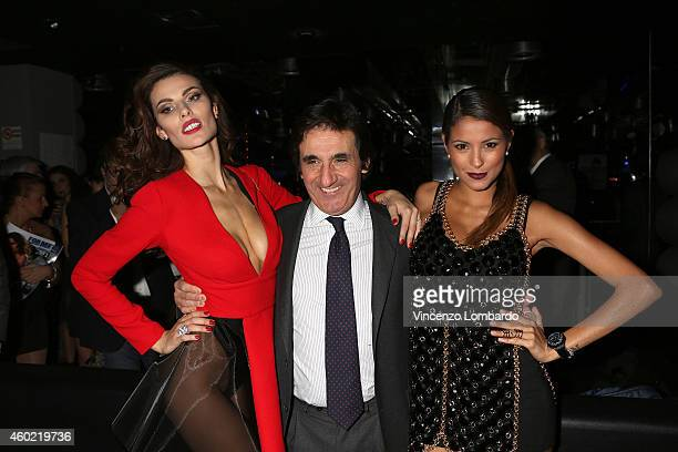 Dayane Mello Urbano Cairo and Mariana Rodriguez attend the Formen Maxi Calendar Presentation on December 9 2014 in Milan Italy