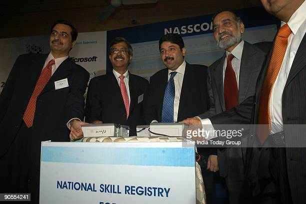 Dayanidhi Maran Union Cabinet Minister of Communications and IT Kiran Karnik president NASSCOM Jerry Rao CEO Mphasis Michele Markoff Dept of State...