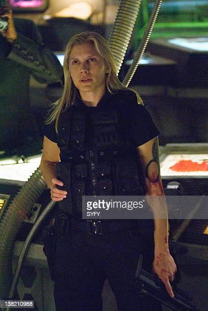 GALACTICA 'Daybreak' Episode 21/22/23 Air Dates 3/13/2009 3/20/2009 Pictured Katee Sackhoff as Lieutenant Kara 'Starbuck' Thrace