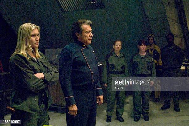 GALACTICA 'Daybreak' Episode 21/22/23 Air Dates 3/13/2009 3/20/2009 Pictured Katee Sackhoff as Lieutenant Kara 'Starbuck' Thrace Edward James Olmos...