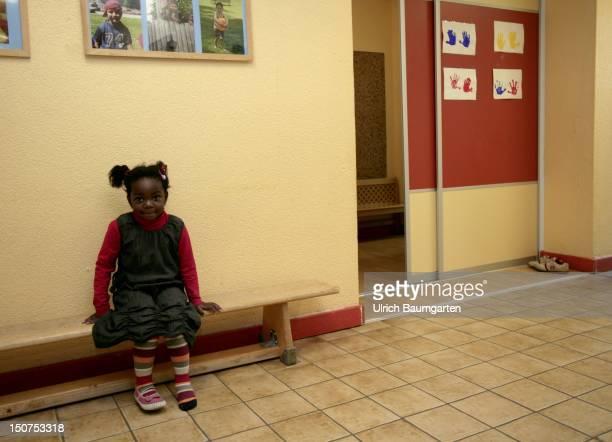 MAIN daycare centre AWOKindertagesstaette AlfredMarchandHaus in Frankfurt Main Little girl with migration background