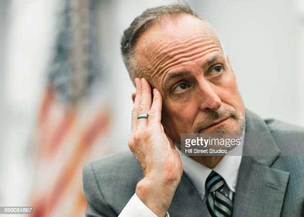 daydreaming caucasian businessman - tensed idaho stock photos and pictures