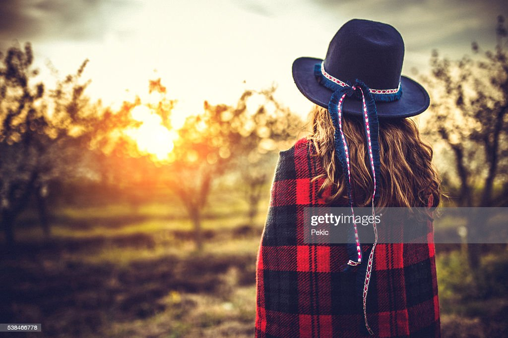 Daydreaming in sunset! : Stock Photo