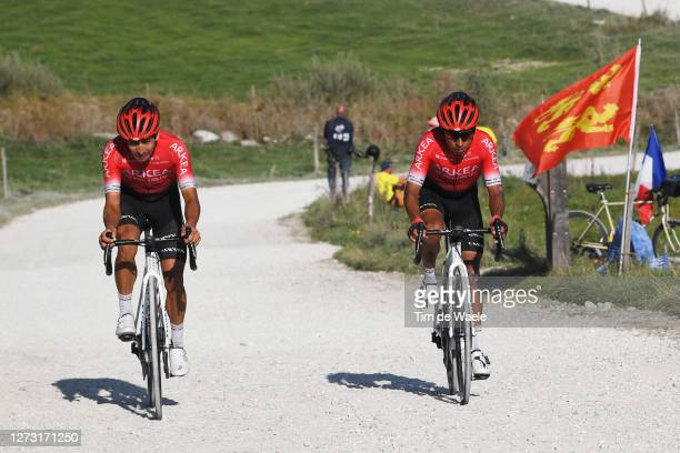 Dayer Uberney Quintana Rojas of Colombia and Team Arkea - Samsic / Nairo Quintana Rojas of Colombia and Team Arkea - Samsic / Montée du plateau des...