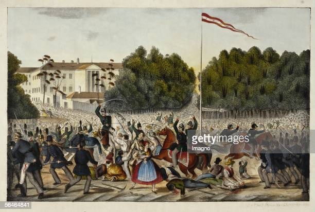 A daylabourers' uprising is broken up by the National Guard in the Vienna Prater on August 23 1848 The revolution has split into the victorious...