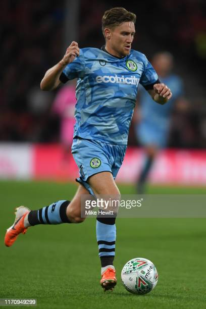 Dayle Grubb of Forest Green Rovers in action during the Carabao Cup Second Round match between AFC Bournemouth and Forest Green Rovers at Vitality...