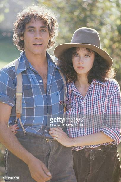 Dayle Haddon and Gerard Ismael on the movie set of Le dernier amant romantique .