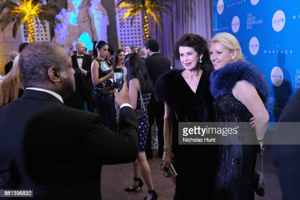 Dayle Haddon and Mindy Grossman attend 13th Annual UNICEF Snowflake Ball 2017 at Cipriani Wall Street on November 28 2017 in New York City