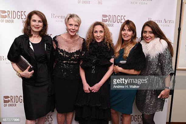 Dayle Haddon Cathie Black Reem Acra Muna Rihani AlNasser and Rema Dupont attend Bridges Of Understanding's annual Building Bridges award dinner...