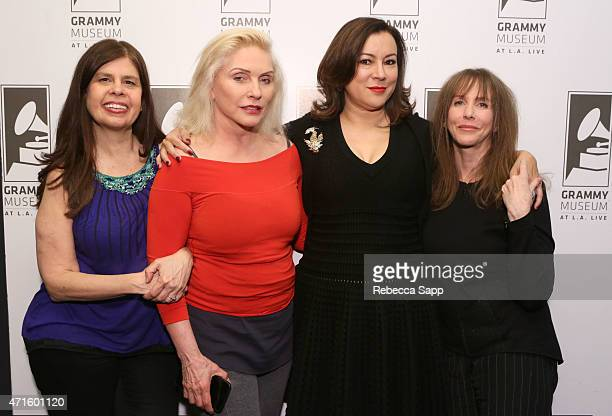 Dayle Reyfel Debbie Harry Jennifer Tilly and Laraine Newman attend Celebrity Autobiography The Music Edition Volume 5 at The GRAMMY Museum on April...