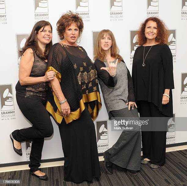 Dayle Reyfel, Lainie Kazan, Laraine Newman and Melissa Manchester pose before Celebrity Autobiography: The Music Edition Volume 3 at The GRAMMY...