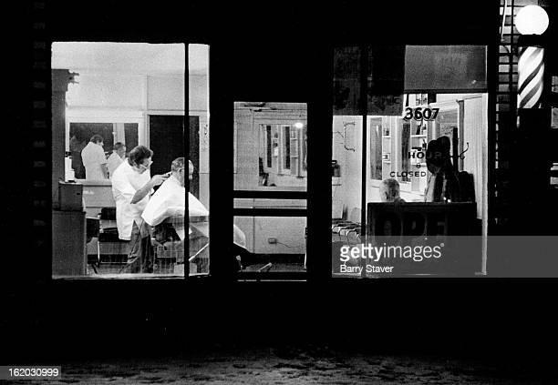 JAN 8 1974 JAN 10 1974 JAN 11 1974 Daylight Saving Time Early morning haircut Barber Shop 3607 W Colfax at 8 am darkness