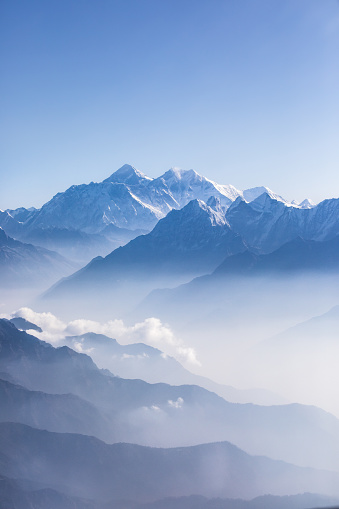 Daylight view of Mount Everest. 669828282