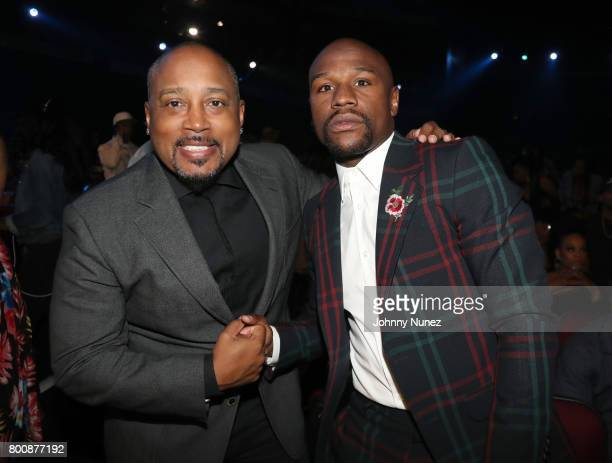 Daymond John and Floyd Mayweather at 2017 BET Awards at Microsoft Theater on June 25 2017 in Los Angeles California
