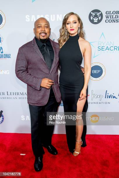 Daymond John and Heather Taras attend the 2018 Samsung Charity Gala at The Manhattan Center on September 27 2018 in New York City