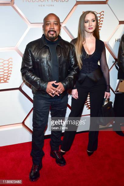 Daymond John and Heather Taras attends the Hudson Yards Grand Opening Party at Hudson Yards on March 14 2019 in New York City