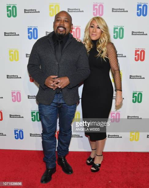 Daymond John and Lori Greiner attend 'The Bloomberg 50' Celebration at Cipriani 25 Broadway on December 10 2018 in New York City