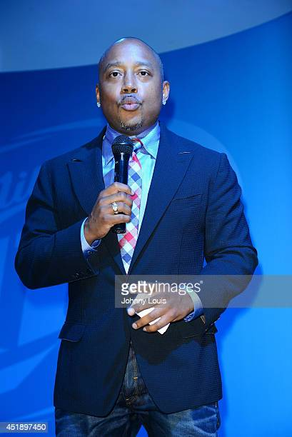 Daymond John attends Tap The Future event at Nikki Beach on July 8 2014 in Miami Beach Florida