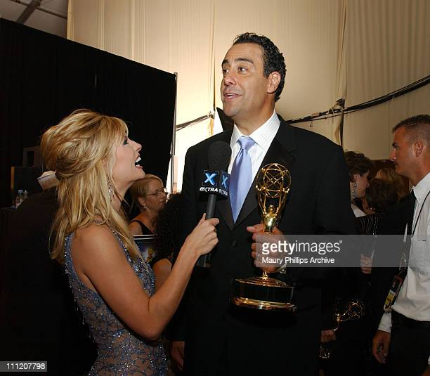 Dayna Devon and Brad Garrett during The 55th Annual Primetime Emmy Awards Nokia Red Carpet at The Shrine Theater in Los Angeles California United...