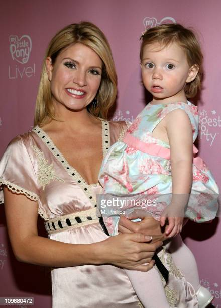 Dayna Devon and daughter Emmy during My Little Pony Live Los Angeles Premiere Red Carpet at Kodak Theatre in Hollywood California United States