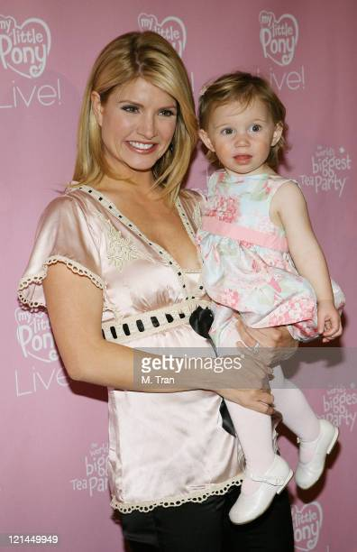 Dayna Devon and daughter Emmy during My Little Pony Live Los Angeles Premiere Arrivals at Kodak Theater in Hollywood California United States