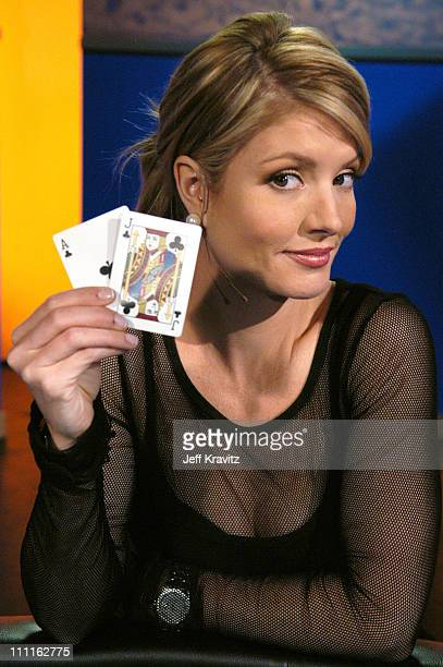 Dayna Devon during Celebrity Blackjack Matt Vasgersian hosts Celebrity Blackjack a one hour weekly tournament featuring 40 stars competing for a...