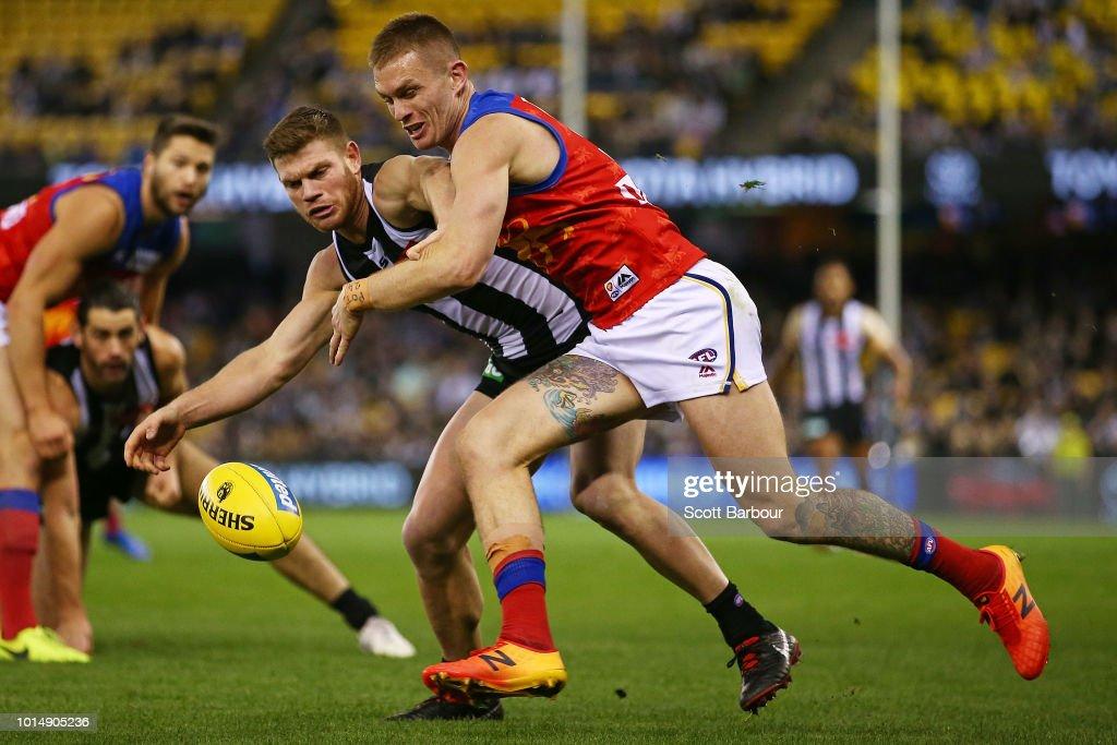 AFL Rd 21 - Collingwood v Brisbane : News Photo