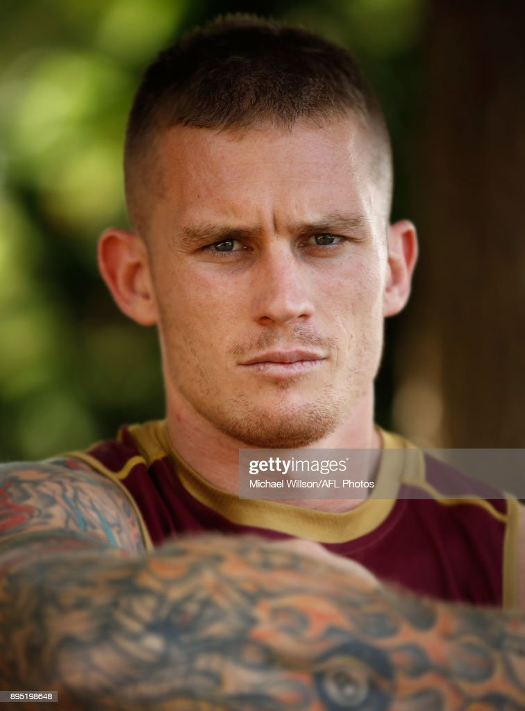 Dayne Beams of the Lions poses for a photograph during the Brisbane Lions AFL pre-season training session at University of Tasmania on December 19, 2017 in Launceston, Australia.