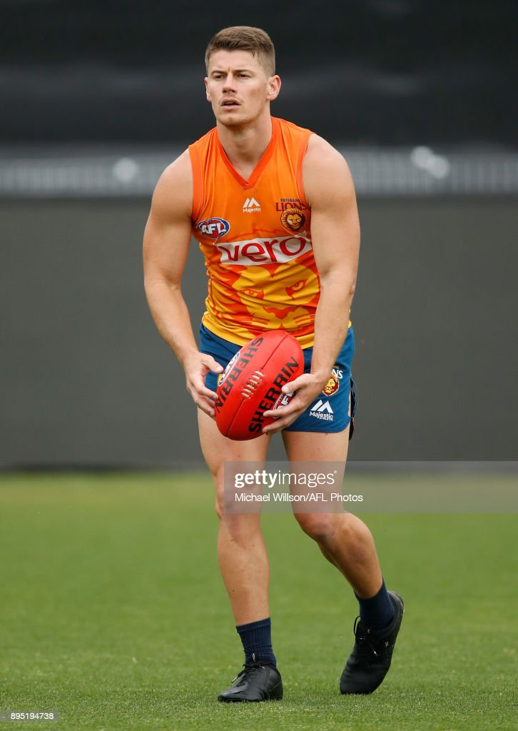 Dayne Zorko of the Lions in action during the Brisbane Lions AFL pre-season training session at University of Tasmania Stadium on December 19, 2017 in Launceston, Australia.
