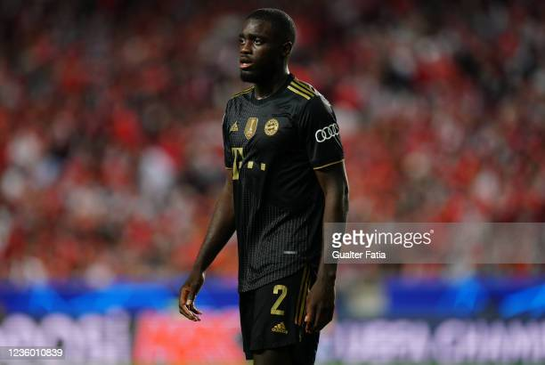 Dayot Upamecano of FC Bayern Munchen during the Group E - UEFA Champions League match between SL Benfica and Bayern Munchen at Estadio da Luz on...