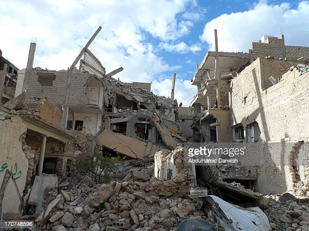 Dayr Az Zawr city in the east of Syria by a missile thrown from an attacking plane