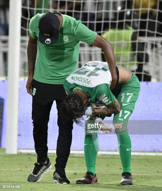 Dayro Moreno of Nacional looks disappointed after the second leg match between Atletico Nacional and Deportes Tolima as part of the Liga Aguila I...