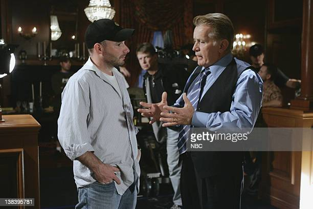 WING 365 Days Episode 12 Aired 1/19/2005 Pictured Director Andrew Bernstein Martin Sheen as President Josiah Jed Bartlet