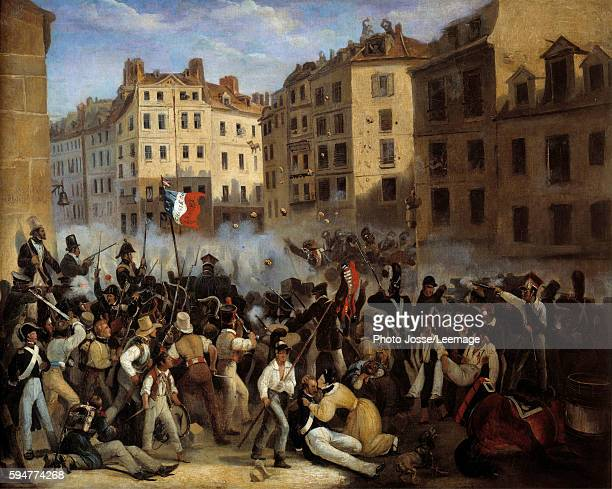 Days of July 1830's episode Revolution of 1830 Republican uprising under LouisPhilippe in opposition to King Charles X Anonymous painting1830 Oil on...