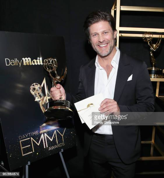 'Days of Our Lives' actor Greg Vaughan winner of Outstanding Supporting Actor In A Drama Series attends the DailyMailcom DailyMailTV Trophy Room at...