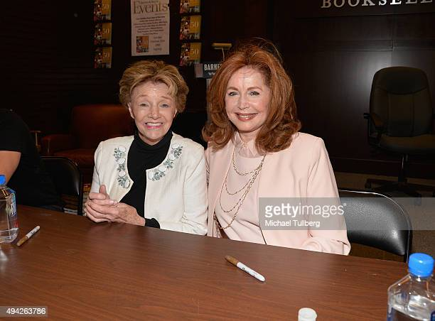 'Days Of Our Lives' actors Peggy McCay and Suzanne Rogers attend a signing for the book 'Days Of Our Lives 50 Years' at Barnes Noble at The Grove on...