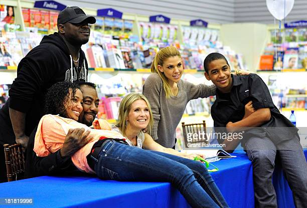 Days of Our Lives cast members James Reynolds Melissa Reeves and Kate Mansi pose for photos during a visit BooksAMillion in Greenville South Carolina...