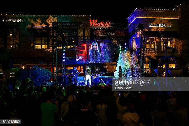 Days performs at the Holiday Tree Lighting at The Village at Westfield Topanga on November 19 2016 in Woodland Hills California