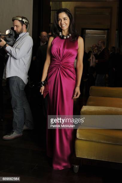 Dayssi Olarte de Kanavos attends Gwyneth Paltrow and VBH's Bruce Hoeksema Host Cocktail Party for Valentino The Last Emperor at VBH on October 27...