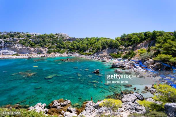 daytime, anthony quinn bay, kallithea, rhodes, greece - isole del dodecanneso foto e immagini stock