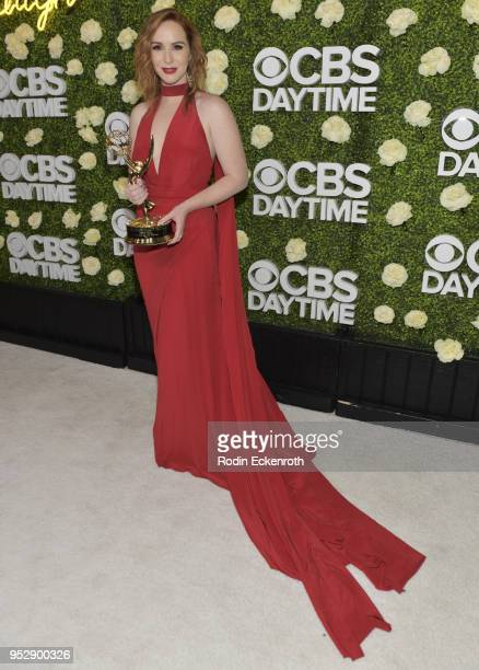 Daytime Emmy Award winner Camryn Grimes attends the CBS Daytime Emmy After Party at Pasadena Convention Center on April 29 2018 in Pasadena California