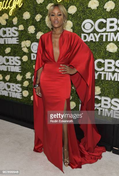 Daytime Emmy Award winner Eve JeffersCooper attends the CBS Daytime Emmy After Party at Pasadena Convention Center on April 29 2018 in Pasadena...
