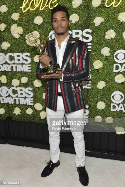 Daytime Emmy Award winner Rome Flynn attends the CBS Daytime Emmy After Party at Pasadena Convention Center on April 29 2018 in Pasadena California