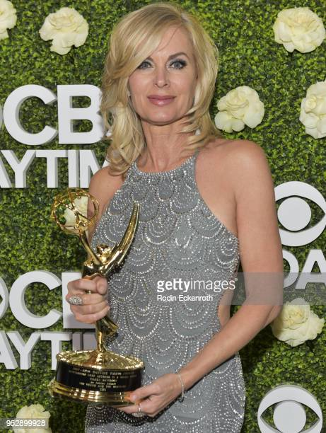 Daytime Emmy winner Eileen Davidson attends the CBS Daytime Emmy After Party at Pasadena Convention Center on April 29 2018 in Pasadena California