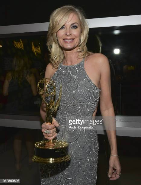 Daytime Emmy winner Eileen Davidson poses for portrait at the CBS Daytime Emmy After Party at Pasadena Convention Center on April 29 2018 in Pasadena...