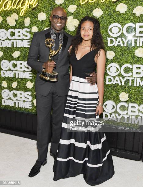 Daytime Emmy winner Wayne Brady and daughter Maile Brady attend the CBS Daytime Emmy After Party at Pasadena Convention Center on April 29 2018 in...