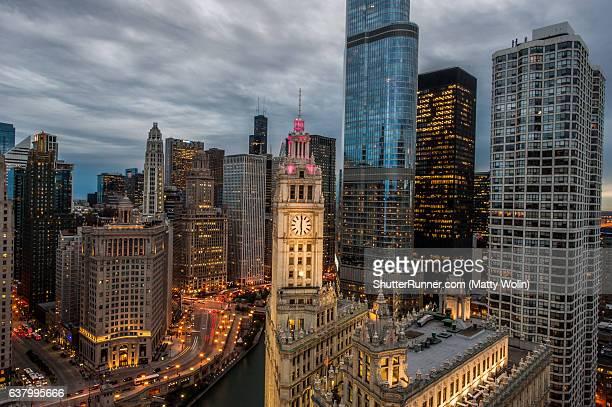 Daytime Lighting from Tribune Tower
