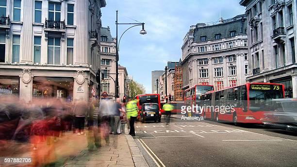 Daytime long exposure on Oxford Street