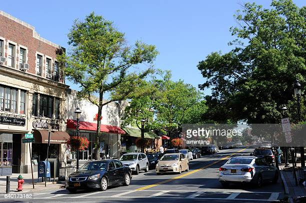 daytime traffic in tarrytown - westchester county stock photos and pictures